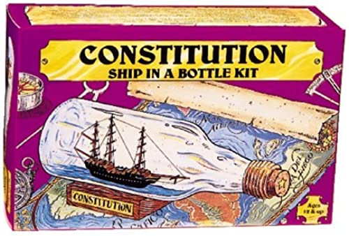 203 Ship in Bottle Constitution Kit by Woodkrafter Kits
