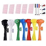 Sweieoni 250 Piezas 7-Colores Cable Ties, Mini Atadura de Cables,...