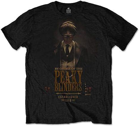 Camiseta oficial Peaky Blinders Shelby Brothers Established 1919 Negro