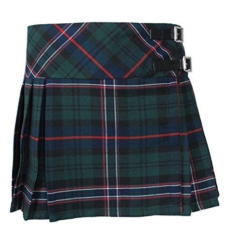 Babies Green Scottish National Tartan Kilt Skirt Age 1-2