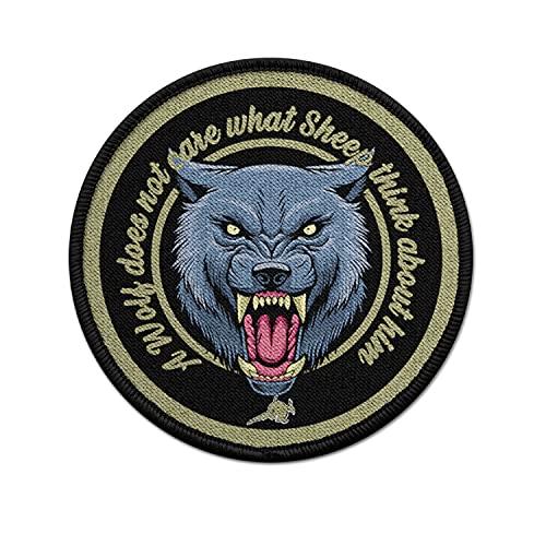 Copytec Patch EIN Wolf interessiert es Nicht was Schafe über ihn Denken Uniform #30982