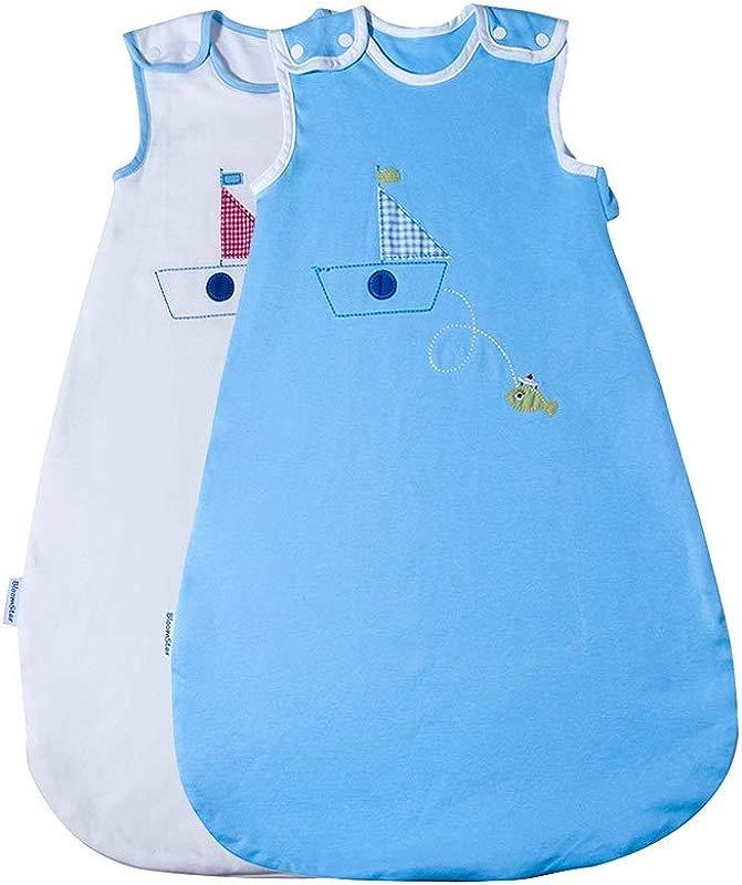 2pc 100 Cotton Baby Wearable Blanket Winter Weight Sleep Bag Sleeping Sack For Baby Girl Boy