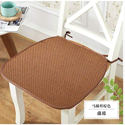 Chair Seat Cushion Non-slip Seat Pad Sitting Mat With Band Kitchen Chair Pad Office Stool Cushion Square Pillow Mat