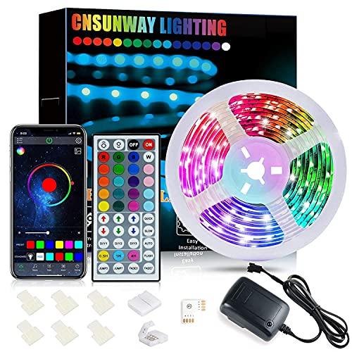 LED Strip 6m Bluetooth, CNSUNWAY...