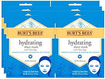 Burt s Bees Hydrating Face Mask Single Use Sheet Mask 6 Count
