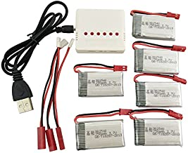 sea jump Model Helicopter Battery 6PCS 3.7V 750mah and 6-in-1 Charger for MJX X400 X800 X300C X500 Four-axis Aircraft Battery