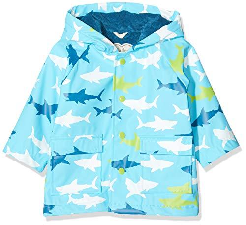 Hatley Printed Raincoats Imperméable, Bleu (Bluegreat White Shark 400), 24 mois Bébé Fille