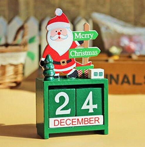 PRIMI Mini Holz Weihnachts Tagen bis bis Weihnachten Countdown Kalender Weihnachten Dekoration, holz, siehe abbildung, 13.5x7x3.5cm