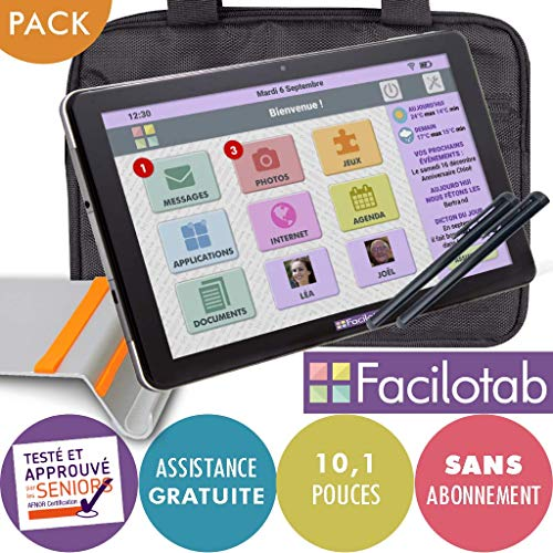 FACILOTAB Pack L 10,1 Pouces WiFi/3G+ - 32 Go - Android 9 +...