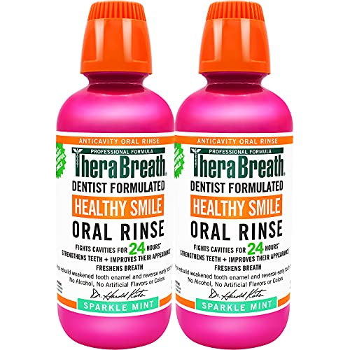 TheraBreath Healthy Smile Dentist Formulated 24-Hour Oral Rinse,...