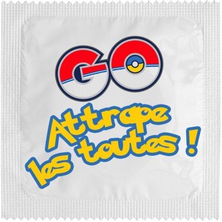 CadeauxGadgets.com Préservatif Humoristique Pokémon GO : Attrape Les Toutes !
