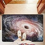 Mr.XZY Atmosphere Universe - Alfombra para baño, antideslizante, lavable, para sala de estar, cocina, al aire libre, porche, 91,4 x 61 cm, 2010922