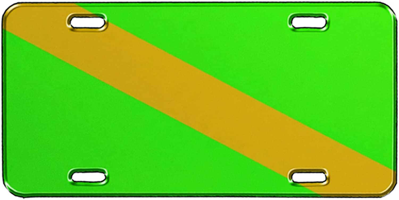 Innovative Nitrox Flag Metal License Plate
