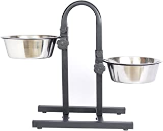 Pets Empire Dog Adjustable Feeding Stand U Type with 2 Bowls (1600 ML)