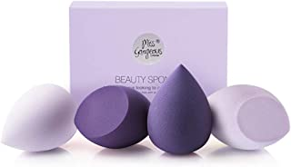 Miss Gorgeous Makeup Sponge Blender Beauty Foundation Blending Sponge for Liquid, Cream, and Powder (4Pcs)