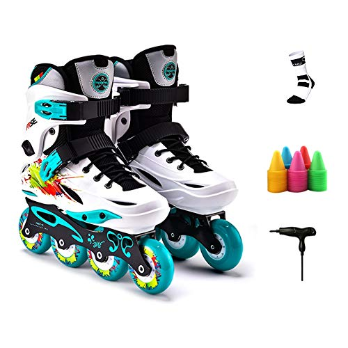 Why Choose Stylish Roller Skates Classic Adjustable Roller Blades Youth Quad Skates Men and Women Sk...