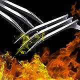 BSTQC 2 Piezas de Cosplay Prop portátil Ligero Wolverine Wolverine Juguetes Garras Garras de plástico Wolverine Garras de puntal para los Adultos de los niños de Las Garras de Wolverine