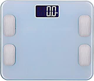 Amerzam 電子体重計 ブルートゥース 体組成計 健康管理 簡単測定 ダイエット 180kg計量 超薄 強化ガラス