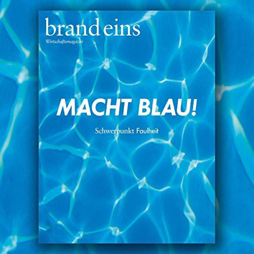 brand eins audio: Faulheit audiobook cover art