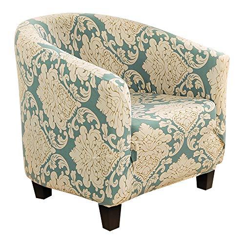 NIBESSER Sesselüberwürfe Sesselschoner Drucken Sesselhusse Sesselbezug Stretch Couchüberwurf Elastisch Stretch Husse für Cafe Stuhl Sessel(Blatt)
