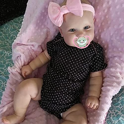 iCradle Lovely 20 Inch 50cm Reborn Baby Dolls Toddler Girl Realistic Silicone Newborn Dolls Real Life Dolls Toy for Ages 3+ (20inch)