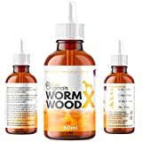 Paw Origins 100% Natural Wormwood Formula - Natural Alternative to Chemical Products - Benefits Intestinal Hygiene - For Dogs, Cats, Poultry, Birds, Ferrets, Rabbits & Pets