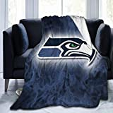 Flannel Fleece Throw Blanket Seattle Seahawks Ultra Soft All Season Blanket for Bed Couch Sofa 60'x50' for Teens