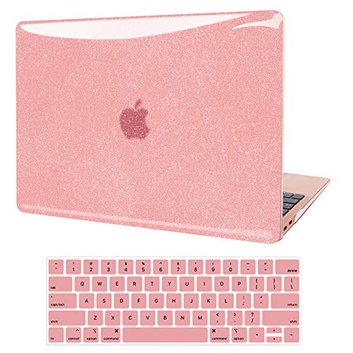 MacBook Pro 13 inch Case 2020-2016 Release A2338 M1 A2289 A2251 A2159 A1989 A1706 A1708, JGOO Smooth Shining Hard Shell with Keyboard Cover Compatible with MacBook Pro 13 with Touch Bar, Rose Gold