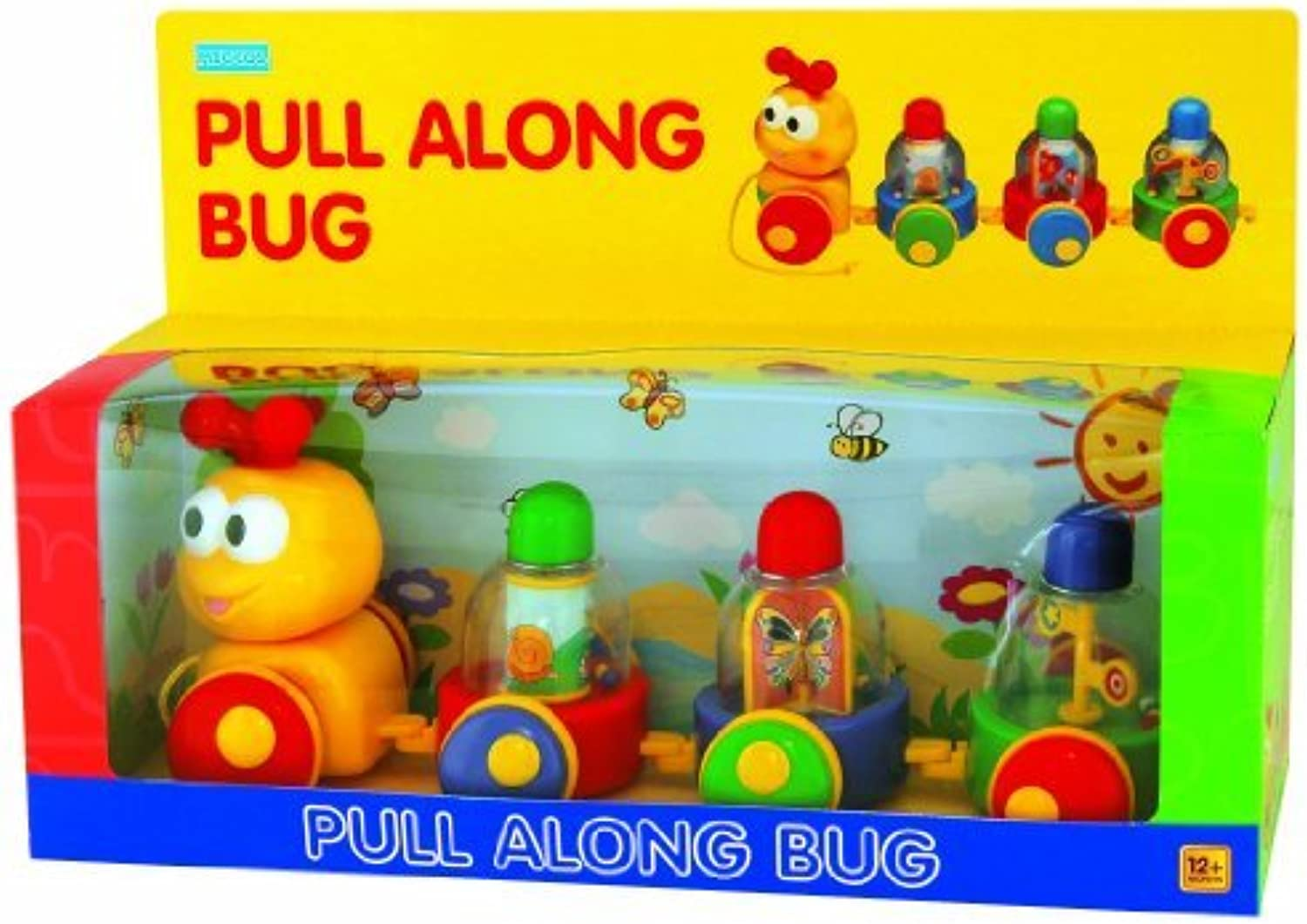 Pull Along Bug' Toddler Toy by Megcos  Affordable Gift for your Little One  Item  LMID1162 by Megcos