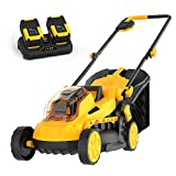 AchiForce Cordless Lawn Mower, Brushless 13-Inch 40 V Lawnmower, 5 Mowing Heights, 8 Gallon Grass Bag, 2 x 4 Ah Batteries and Charger Included
