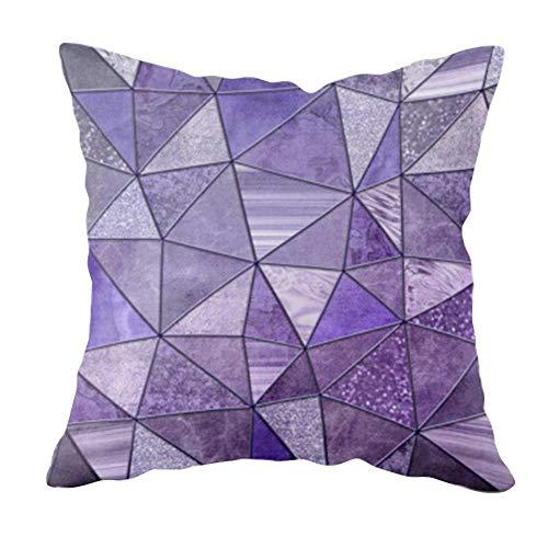 LIUXU Funda de almohada creativa color morado antiarrugas, cómoda, transpirable, antiincrustante, para silla de comedor, decoración del hogar