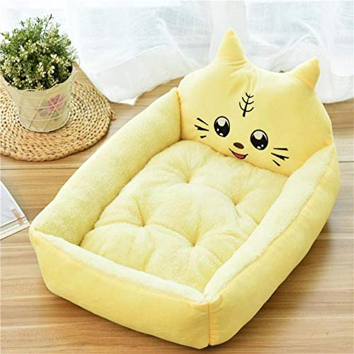 Pet Bed Cartoon Pet Bed Soft Kennel Winter Warm Pet Supplies House For Cat Mat Bed For Small Medium Large Dog Thicken Lounger Sofa,8,S