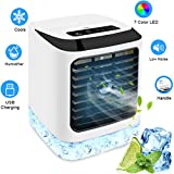 NEWXLT Portable Air Cooler, Mini Air Conditioner Personal Evaporative Cooler with Humidifier Desktop Cooling Fan for Home Office Work Outdoor……