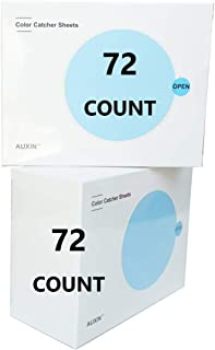 AUXIN,Color Catcher Sheets for Laundry 【72 Count】【2 PACK】,Trap Loose Dyes when Washing Dark Bleeding Clothes,Prevent Light Colored Clothes from Being Dyed(Value Pack)