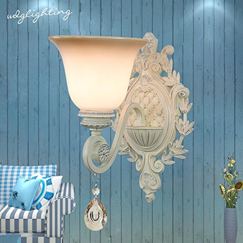 StiefelU LED Wandleuchte nach oben und unten Wandleuchten Crystal Wandleuchten antiken mediterranen Garten 6165 Wohnzimmer Schlafzimmer Nachttischlampe Wandleuchte, single snowflake Silber