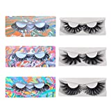 ACROWN 5D 25mm Lashes Mink Full Volume Cruelty-free Siberian 3D Mink Strip Eyelashes 3 Pack