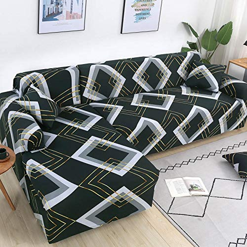 Fundas de sofá de Esquina en Forma de L para Sala de Estar, Fundas de sofá, sofá seccional elástico elástico, sofá Cubre A13, 1 Plaza