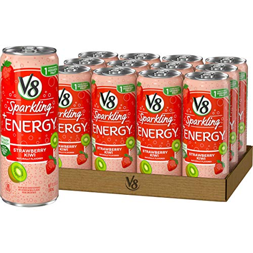 V8 Sparkling +Energy, Healthy Energy Drink, Natural Energy from Tea, Strawberry Kiwi, 11.5 Ounce Can, $8.36, Black Cherry, $8.80, Amazon