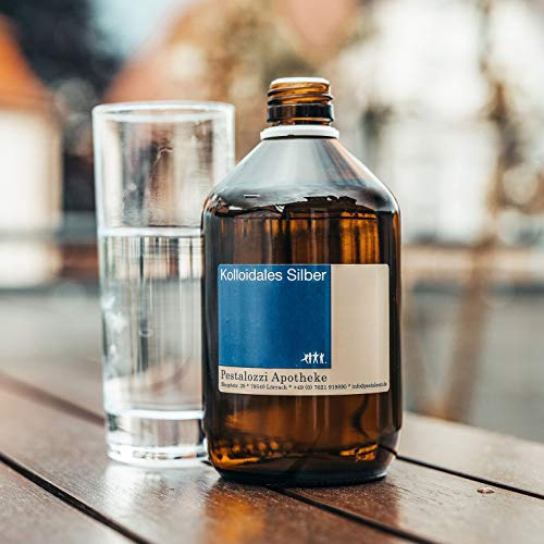 Kolloidales Silber 100ppm aus Apotheken-Herstellung - 100% natürliches, kolloidales Silberwasser, ohne chemische Zusatzstoffe (100 ml) - 2