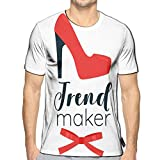 3D Printed T Shirts Cartoon Style Red Woman High Heel Shoe Trend Maker Appa Casual Mens Hipster Top Teese