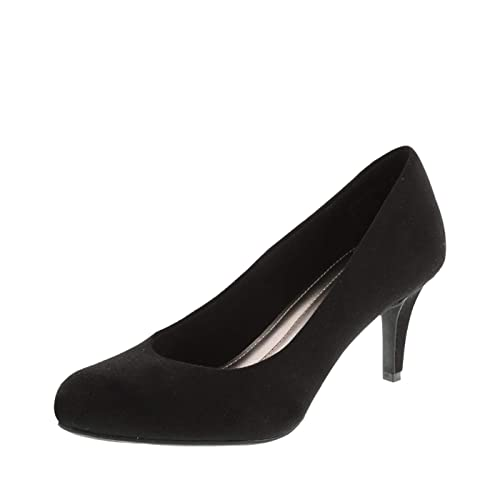 d4609a99ca1 Women s Black Suede Heels Size 9  Amazon.com