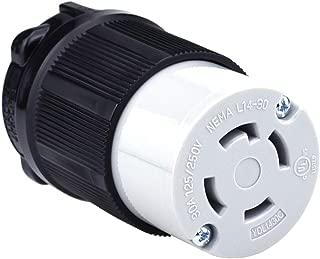 Cllena NEMA L14-30 Female Plug, 3 Pole 4 Wire, 30 Amp 125/250 Volt, 4 Prong Generator Twist Locking Plug Connector