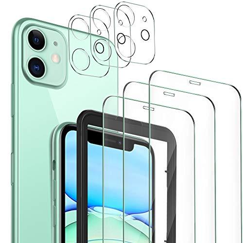 MSOVA für iPhone 11 Panzerglas+Kamera Panzerglas, [3Stück] 9H Hartglas Blasenfrei Anti-Staub Anti-Öl Displayfolie für iPhone 11 6.1 Schutzfolie. Transparent