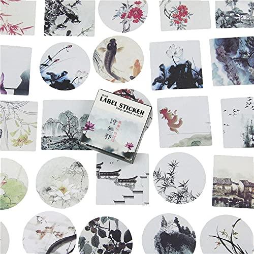 PMSMT 40 Piezas/Paquete, Pegatinas japonesas, Mini Estilo, Sello de Papel, Etiqueta Adhesiva/Etiqueta de decoración de Bricolaje