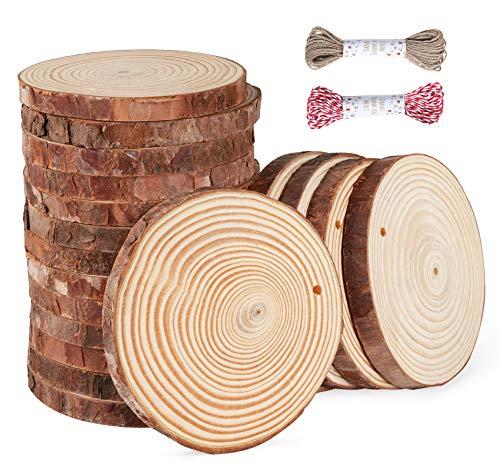 ilauke Unfinished Wood Slices 28 Pcs 3.5