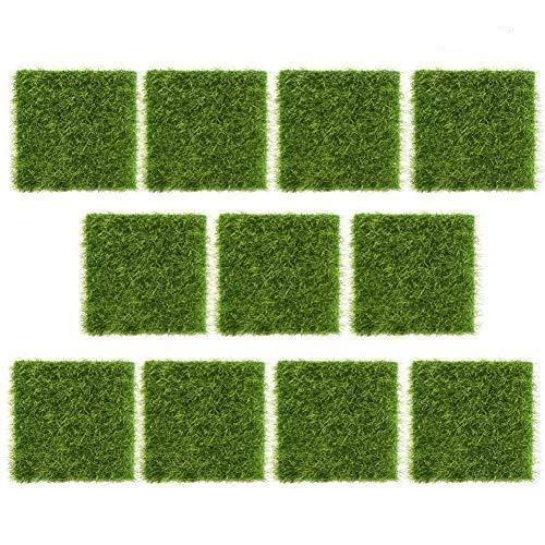 Wifehelper 10 Stücke Kunstrasenmatte Garten Gefälschte Rasen Kunststoff Rasen Gras Indoor Outdoor Home Kunststoff Handwerk Micro Landschaft Ornamente Simulierte Rasen