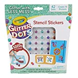 Crayola Glitter Dots Stencil Stickers Craft Kit Age 7+