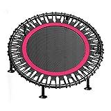 JHome-Indoortrampoline 40 ″ / 48 ″ tragbares & faltbares Trampolin mit Saugfuß, Aerobic-Hüpfburg für Heimkardioübungen, Tragkraft 200 kg für Kinder Erwachsene, überdachtes Bungee-Seil