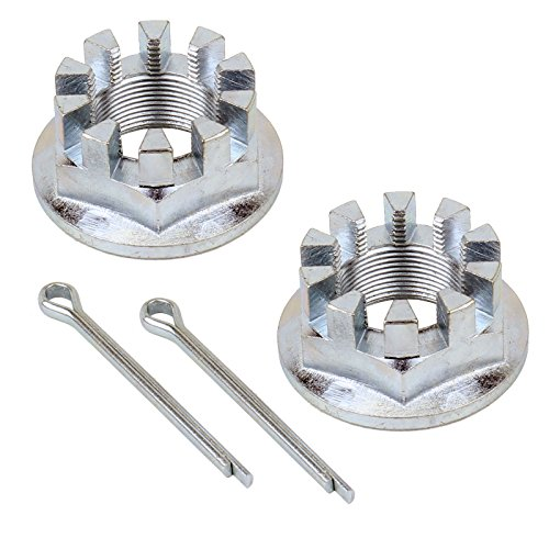 Caltric Set Of 2 Rear Axle Nuts W/Pin Compatible With Honda Trx420Fm Trx420Fpm Rancher 420 2007-2017