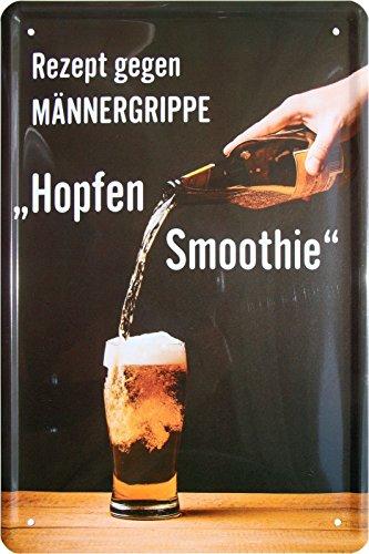 Recept tegen mannenergrib - Hopfen Smoothie Bier 20x30 metalen bord 317